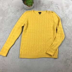 Talbots Cable Knit Lambswool Blend Sweater